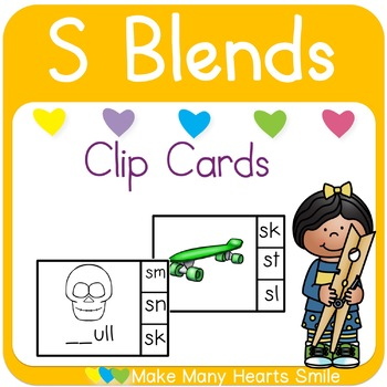 S Blends Clip Cards
