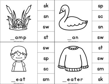 S Blends Clip Cards Center