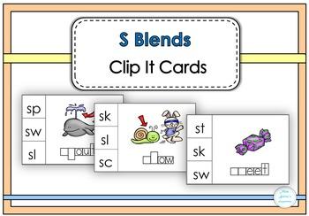 S Blends Clip It Cards