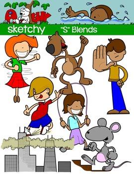 """Blends """"S"""" Clip art"""