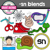 S Blends Clipart - SN Words Clipart