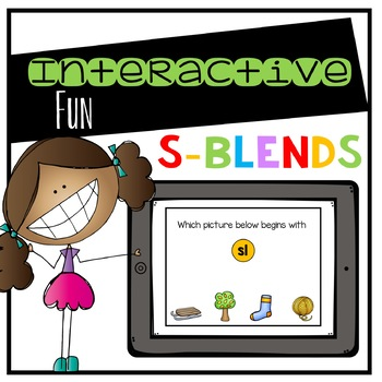 S-Blends Digital Interactive Fun (Digital Classroom)