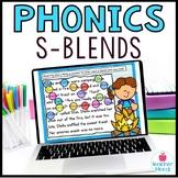 S-Blends Digital Phonics Word Work Google Classroom Distan