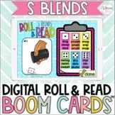 S Blends Digital Roll & Read Boom Cards™ | Beginning Blends