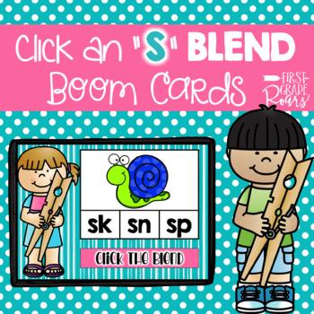 S Blends Digital Task BOOM CARDS