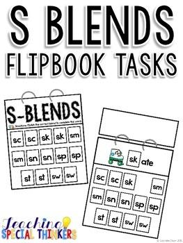 S Blends Flipbook Tasks