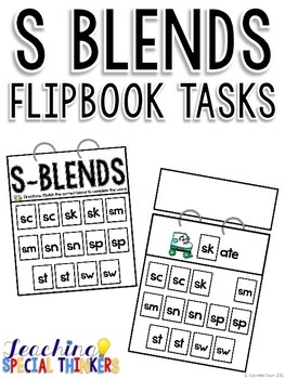 S Blends Flipbook Tasks