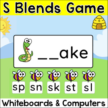 S Blends Game for Smartboards and Computers