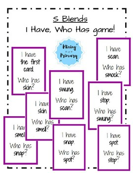 S Blends - I Have, Who Has Game