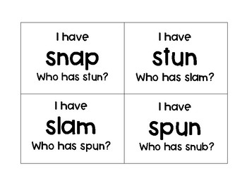 """S Blends """"I have ___ Who has ___?"""""""