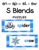 S Blends - Initial sn, sp, st & sw Literacy Centers
