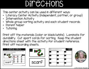 S Blends Literacy Center Activity