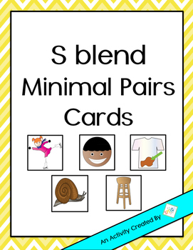 Free S Blends Minimal Pairs Cards