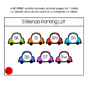 S Blends No Print Articulation Activity