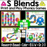 S Blends Phonics Games