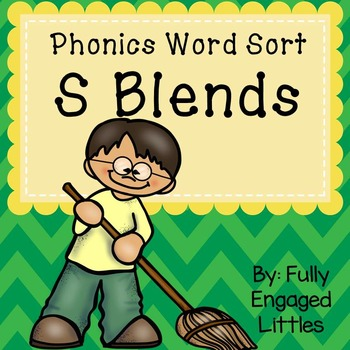 S Blends-Word Sort, Comprehension Stories, Graphs, and More