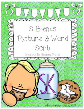 S Blends Picture & Word Sorts