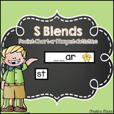 S Blends Pocket Chart or Magnetic Letter Activities