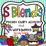 S Blends (Pocket Chart Activity and Worksheets)