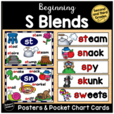 S Blends Posters and Pocket Chart Cards