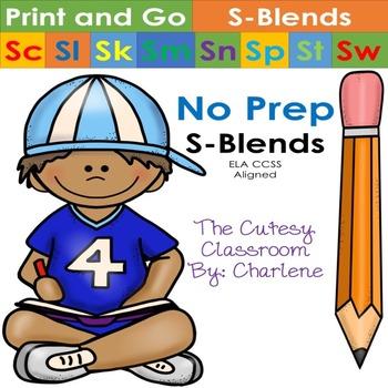 S-Blends Print and Go ELA CCSS RF.2.3