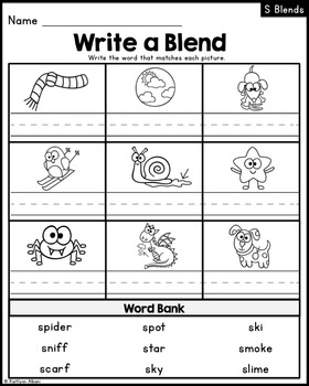 S Blends - Printables and Posters