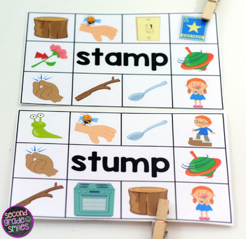 S Blends Read and Clip Cards