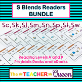 S Blends Readers BUNDLE Levels B and D (Printable Books an