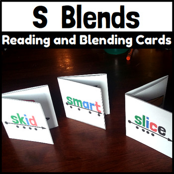 S Blends Reading and Blending Cards