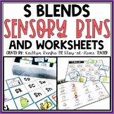S Blends Worksheets and Sensory Bins