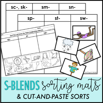 S-Blends Sorting Mats and Cut-and-Paste Sorts