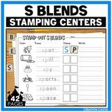 S Blends Worksheets for Stamping Center