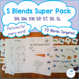 S Blends Super Pack for Cluster Reduction- 70 Words with Pictures