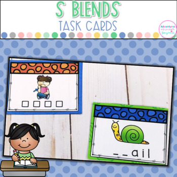 S Blends Task Cards/Scoot Games