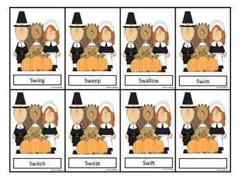 /S/ Blends Thanksgiving Theme