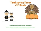 /S/ Blends Thanksgiving Theme