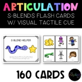 SPEECH THERAPY:  S-Blends Visual Cue and 160 Articulation Flash Cards