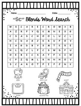 S Blends Word Search Packet