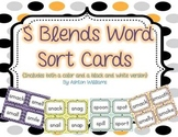 S Blends Word Sort Card Set