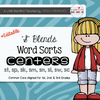 S Blends Word Sorts {Editable}