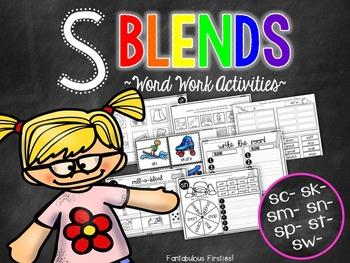 Word Work for Beginning Blends:  S Blends