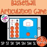 S Blends Words Basketball Articulation Game BOOM CARDS