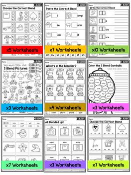 S Blends Worksheets