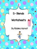 S-Blends Worksheets
