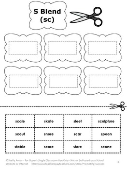 S Blends Worksheets, Speech Therapy Activities, ESL Vocabulary