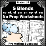 S Blends Worksheets and Activities, Speech Therapy, ESL Beginners