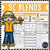 S Blends Worksheets - SC Blend Words