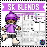 S Blends Worksheets - SK Blend Words
