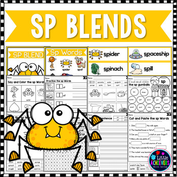 S Blends Worksheets - SP Blend Words