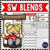 S Blends Worksheets - SW Blend Words